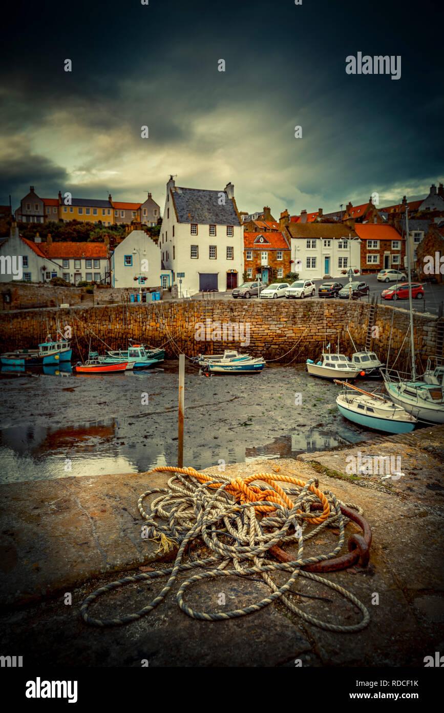 Europa, Großbritannien, Schottland, Küste, Küstenwanderweg, Fife Coastal Path, Crail, Hafen Stock Photo