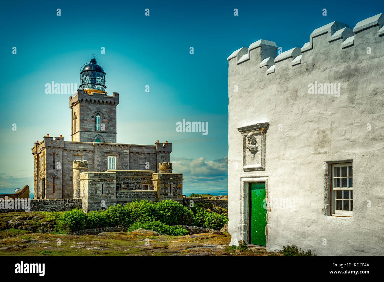 Europa, Großbritannien, Schottland, Küste, Küstenwanderweg, Fife Coastal Path, Insel, May, Leuchtturm, Northern Lighthouse - Stock Image