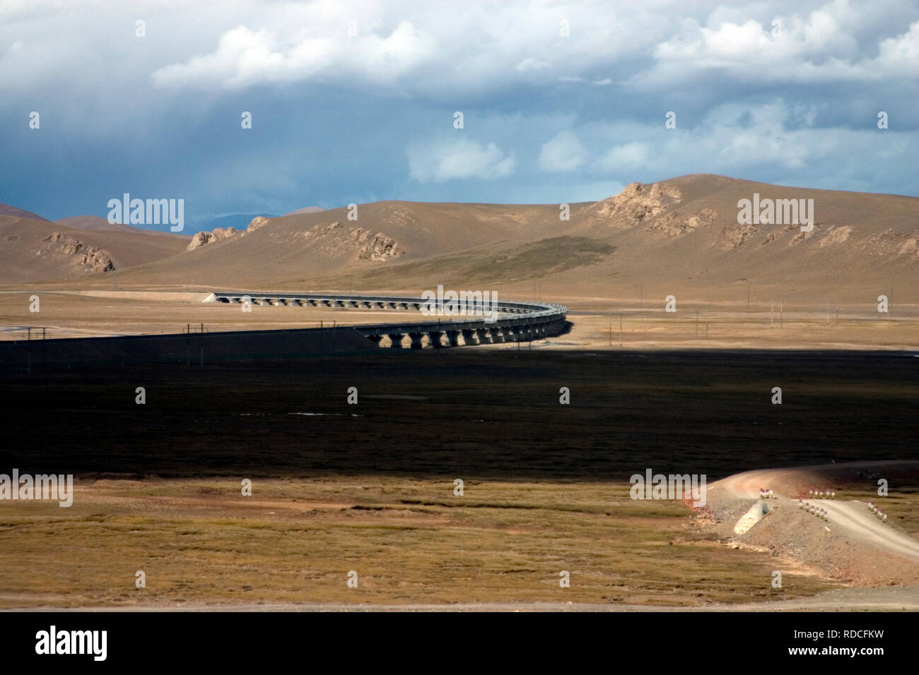 view from the Tibetan railway - Stock Image