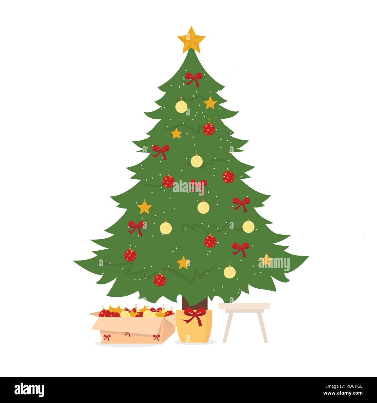 Christmas Tree Decorated On White Background For Graphic And Web Design Modern Simple Vector Sign Internet Concept Trendy Symbol For Website Design Web Button Or Mobile App Stock Vector Image Art