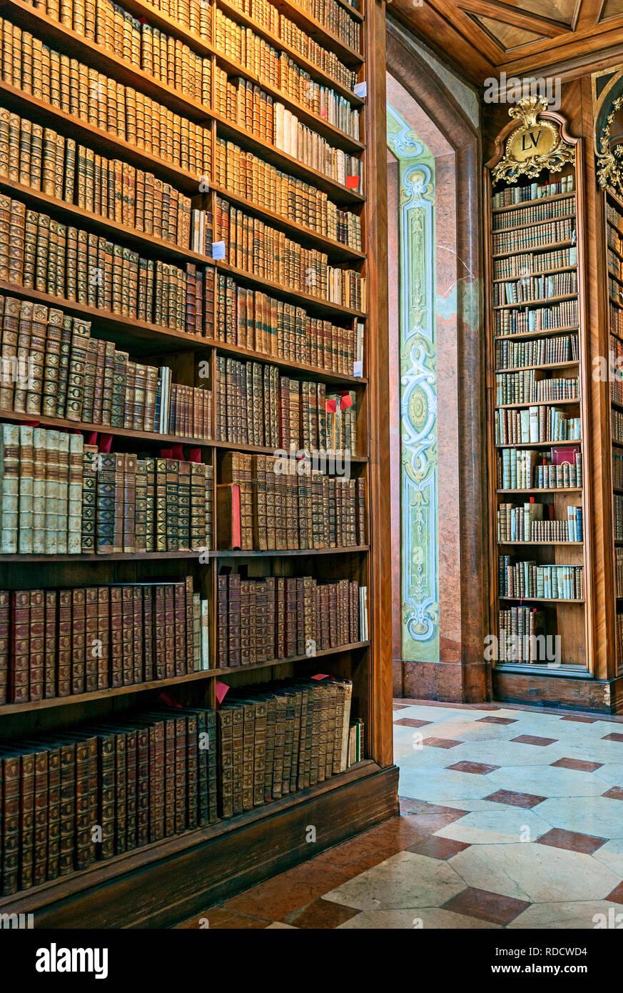 Antique Books Austrian National Library Österreichische Nationalbibliothek - Stock Image