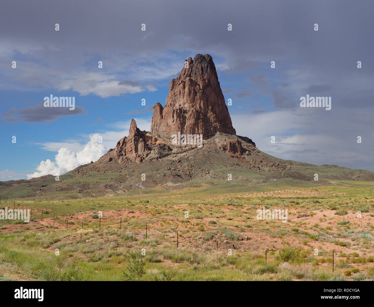 Towering sandstone at Monument Valley, AZ - Stock Image