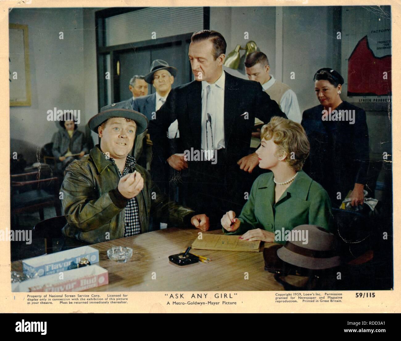 ASK ANY GIRL (1959) MICKEY SHAUGNESSY DAVID NIVEN SHIRLEY