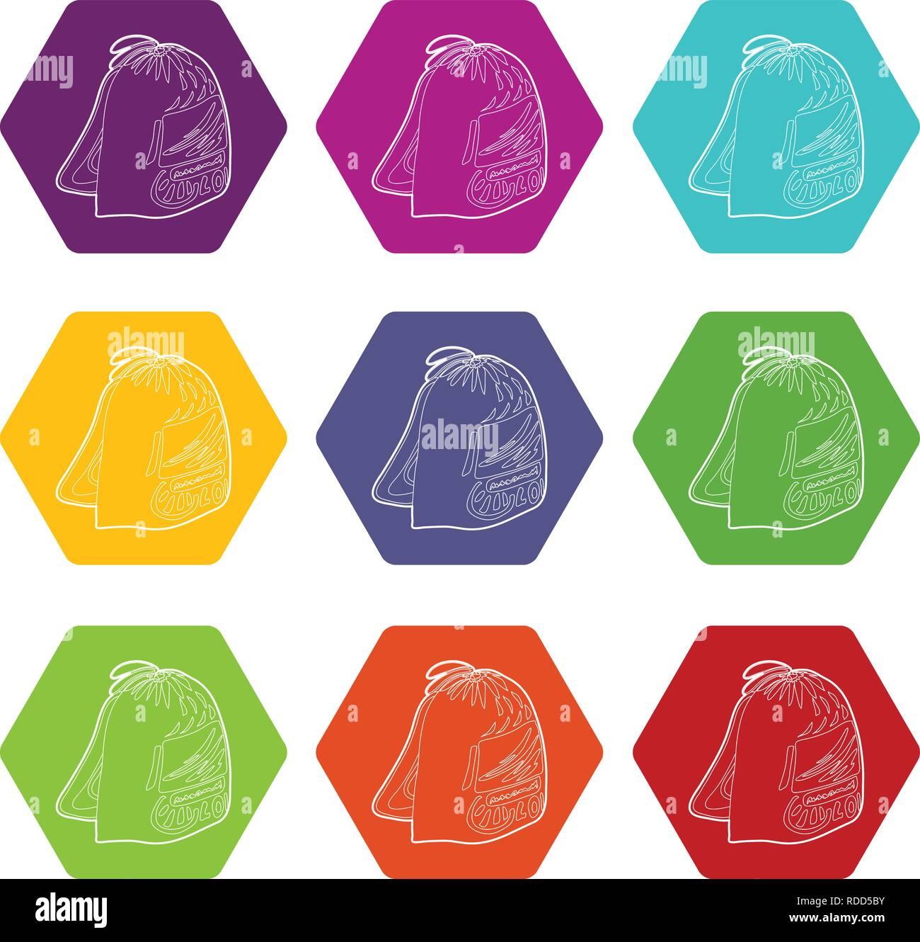 7a943707f0ee Sport backpack icons set 9 vector Stock Vector Art   Illustration ...