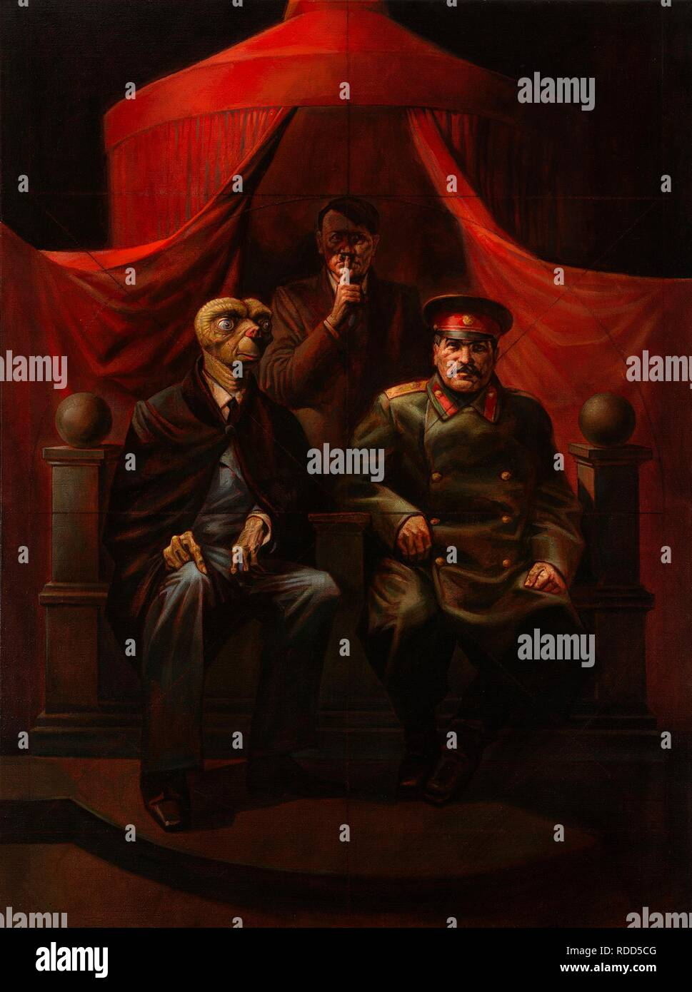 Yalta Conference, from the series 'Nostalgic Socialist Realism'. Museum: PRIVATE COLLECTION. Author: Komar and Melamid. - Stock Image