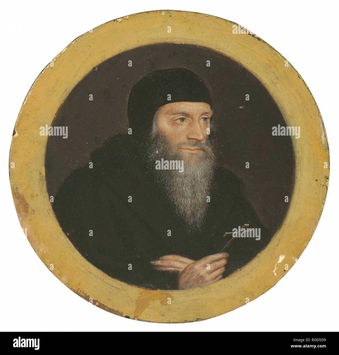 Portrait of Sir Thomas More as he was led to execution. Museum: PRIVATE COLLECTION. Author: Holbein, Hans, the Younger, Workshop of. - Stock Image