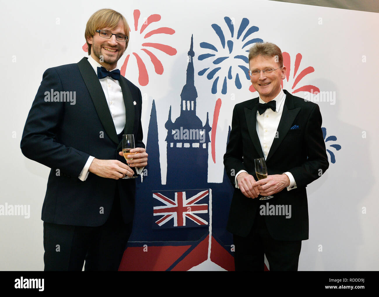 Some 20 cultural, political and social events will commemorate 100 years of British Embassy in Prague this year in the programme #stolet (#hundredyears) launched today, on Thursday, January 17, 2019, in Thunovsky Palace, the embassy seat, in Prague. The events celebrating the British-Czech relations take place in the year when Britain is to leave the EU. British Ambassador Nick Archer (on the photo right poses with Czech Health Minister Adam Vojtech) said the programme would show how diverse and lively the British-Czech relations were at the moment but it would also look towards the future as Stock Photo