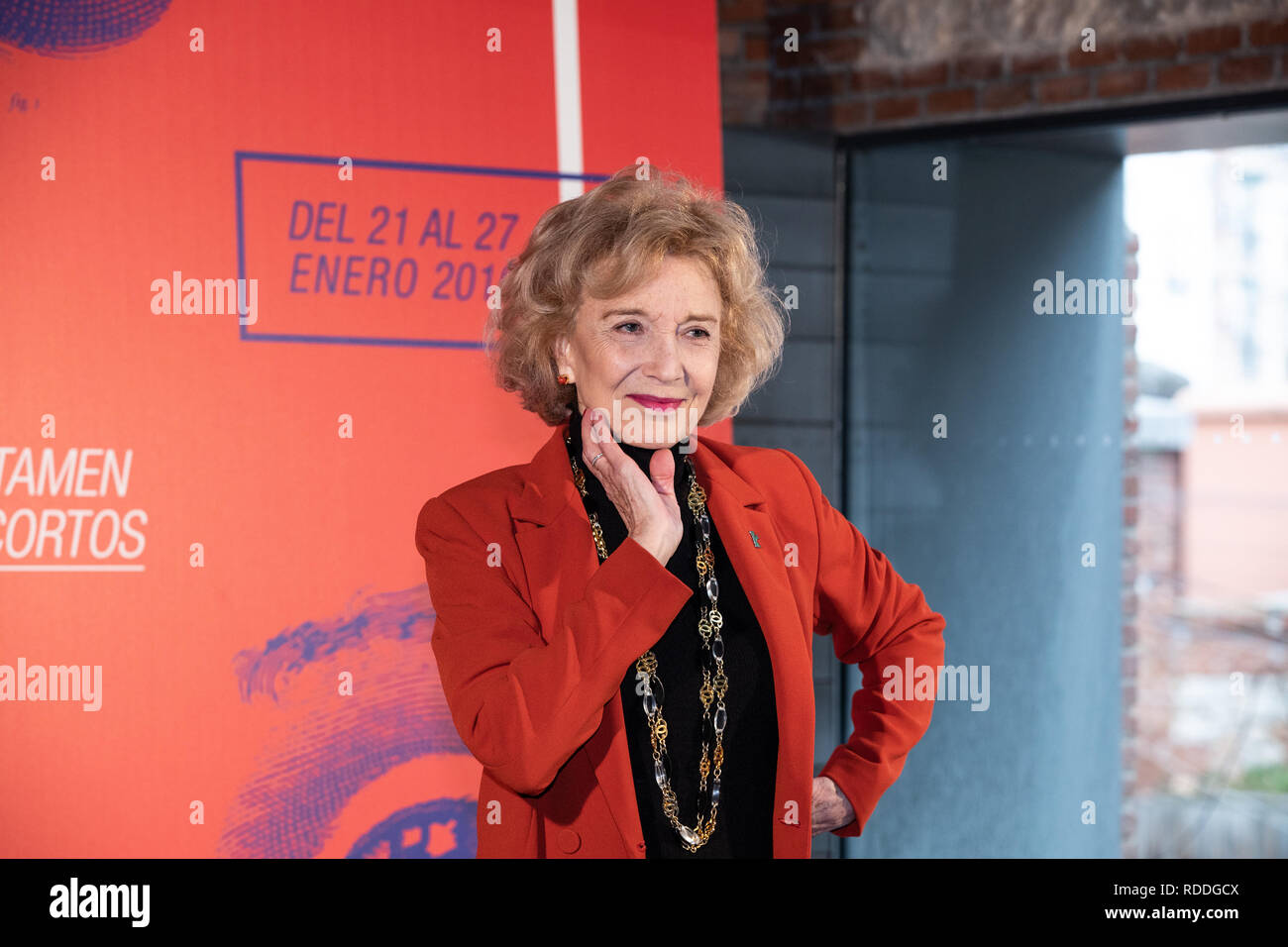 Marisa Paredes, 'Puente de Toledo' award seen during the Goya Awards.  The Carabanchel Film Week has become one of the longest-running exhibitions in Madrid and has made it consolidate as the prelude to the Goya Awards. - Stock Image