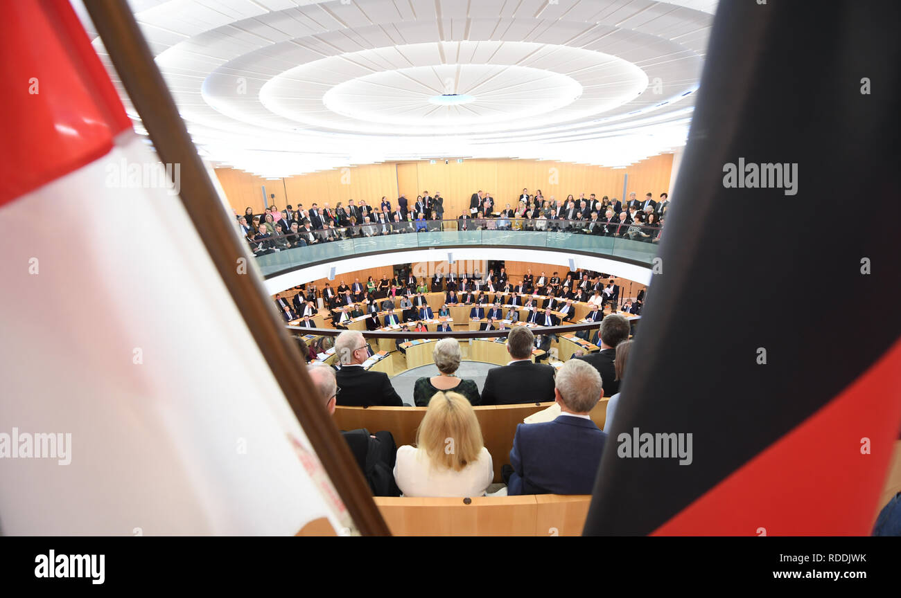 Wiesbaden Germany 18th Jan 2019 The Members Of The Landtag And