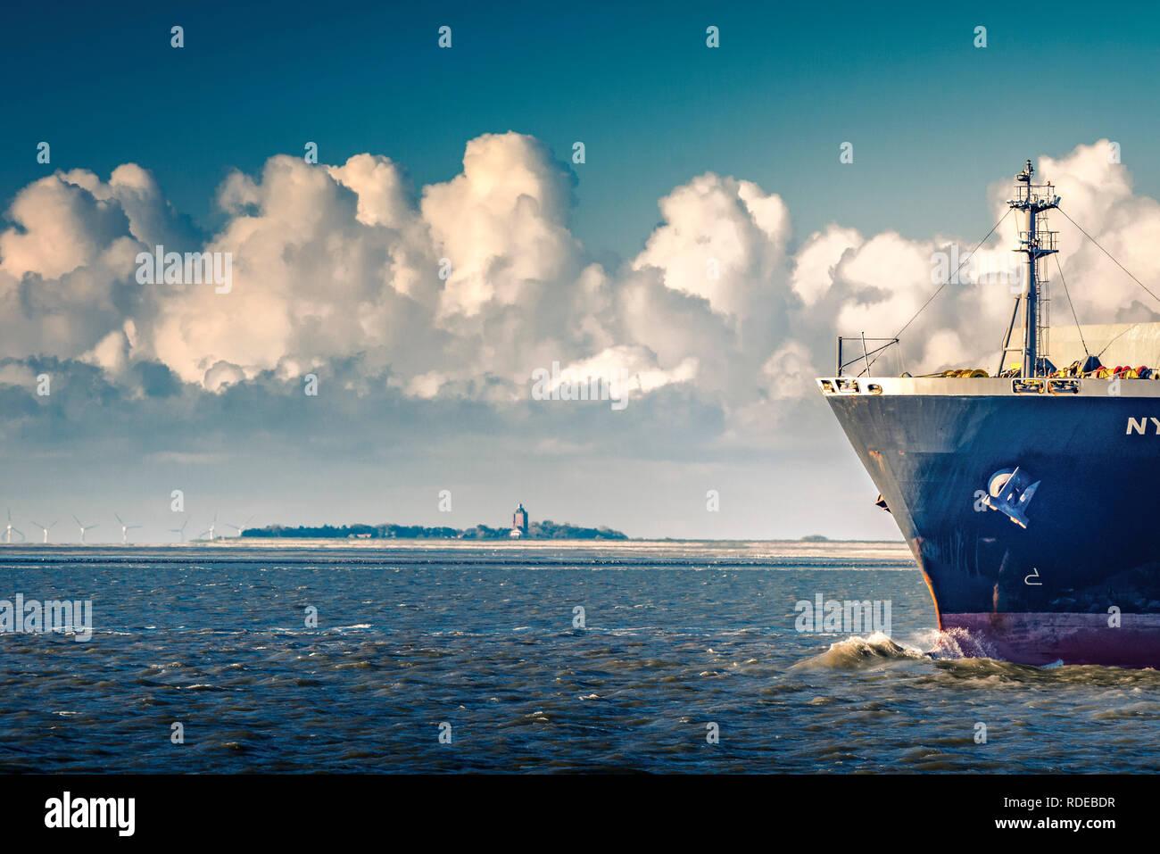 Deutschland, Cuxhaven, Elbe, Elbmündung, Insel, Neuwerk - Stock Image