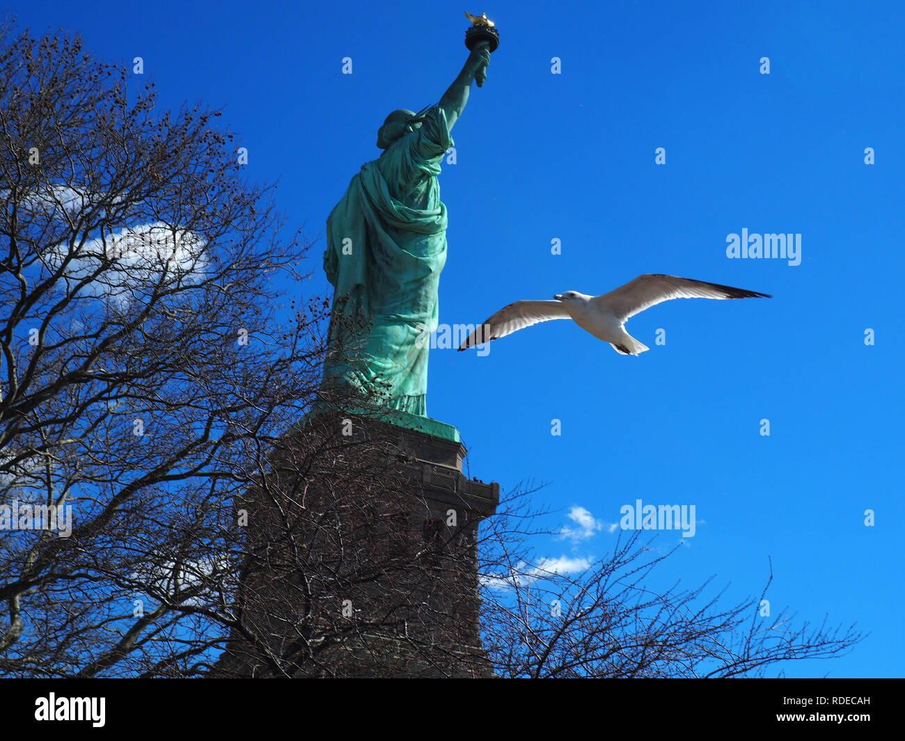 Statue of Liberty - New York - Stock Image