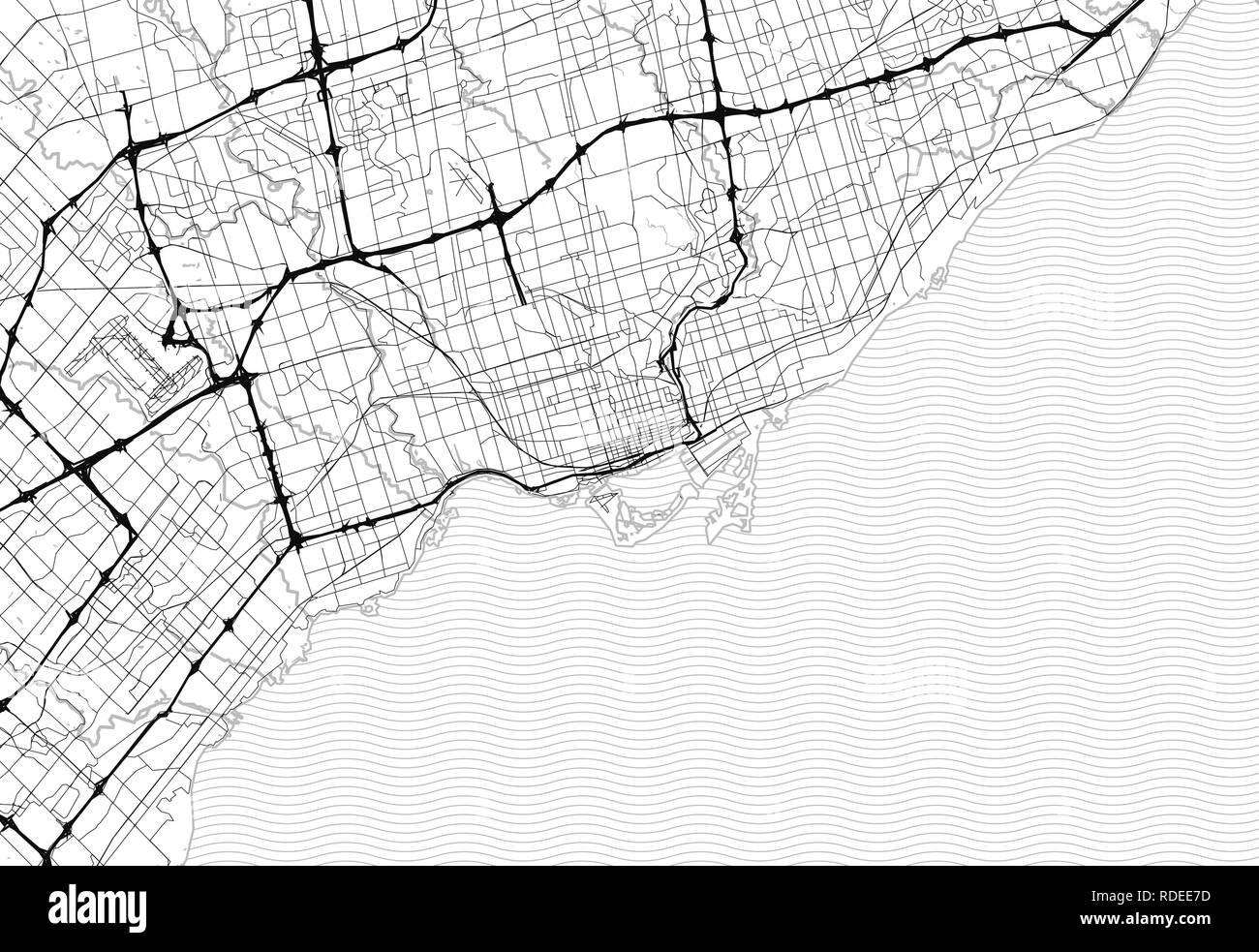 Toronto Canada Water Map Area map of Toronto, Canada. This artmap of Toronto contains