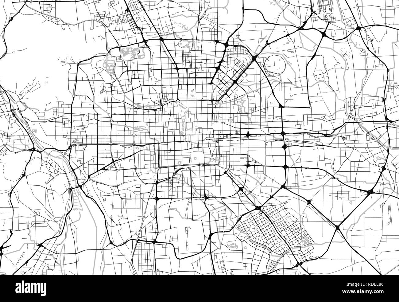 Image of: Beijing Map Vector High Resolution Stock Photography And Images Alamy