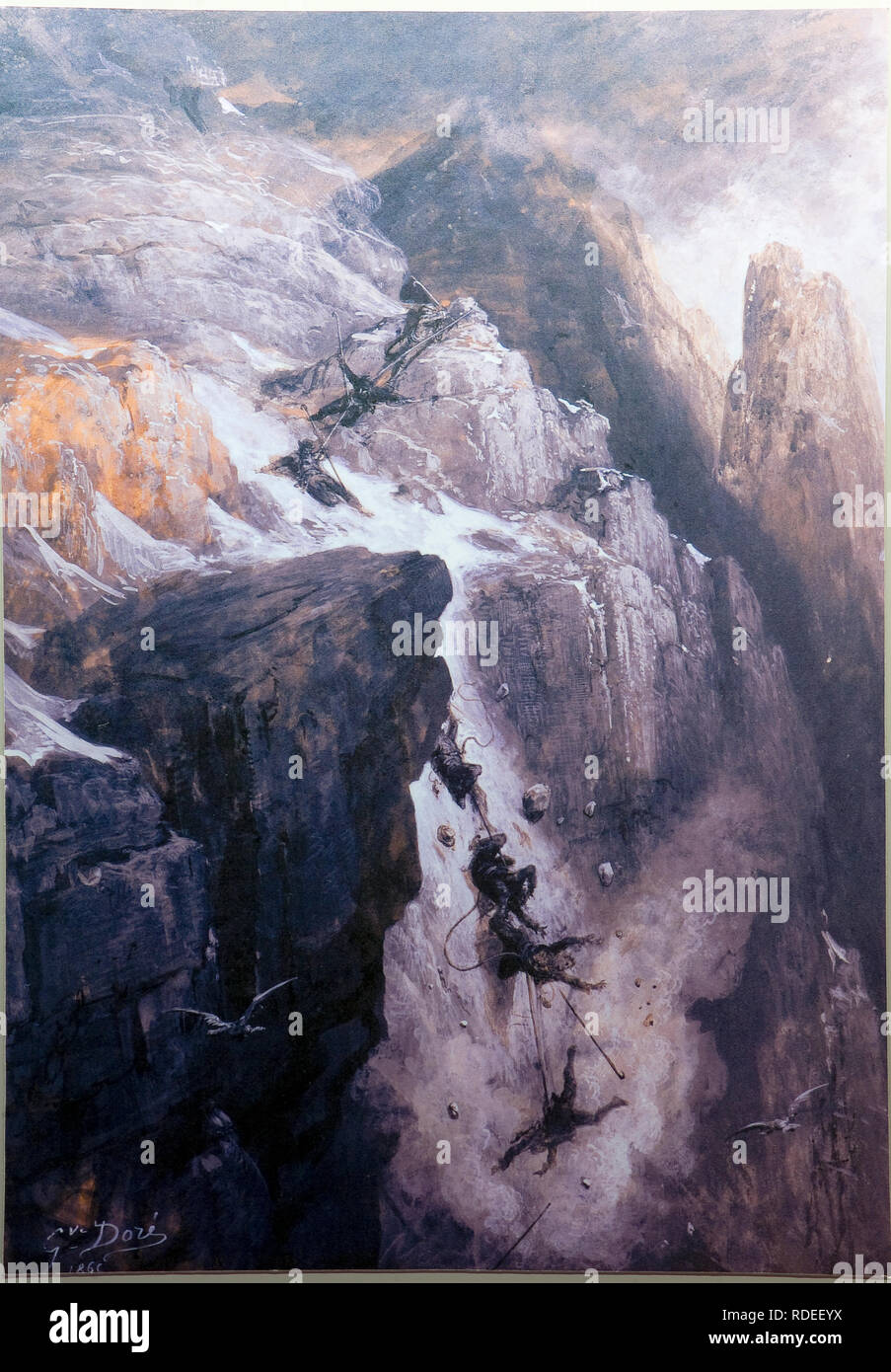 Italy Valle D'Aosta Bard The Fort - Now Museum -the museum of the Alps the city Discovers to the mountain Conquest of the fallen Cervino rock climbers Tragedy of the 14 July 1865 - Stock Image