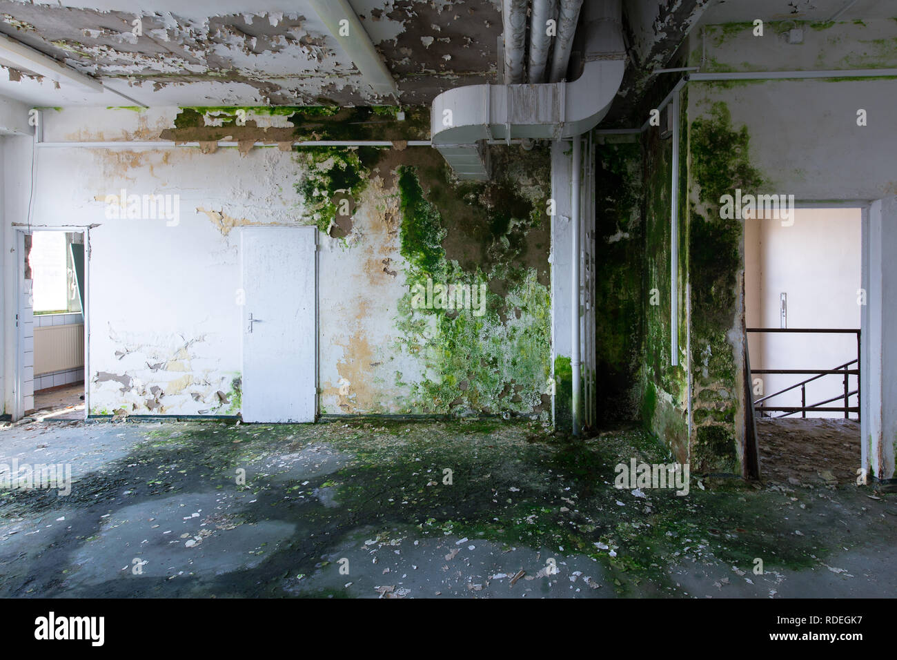 abandoned industrial site in Germany - Stock Image