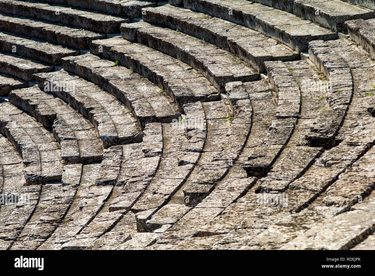 View of an ancient theatre, Greece - Stock Image
