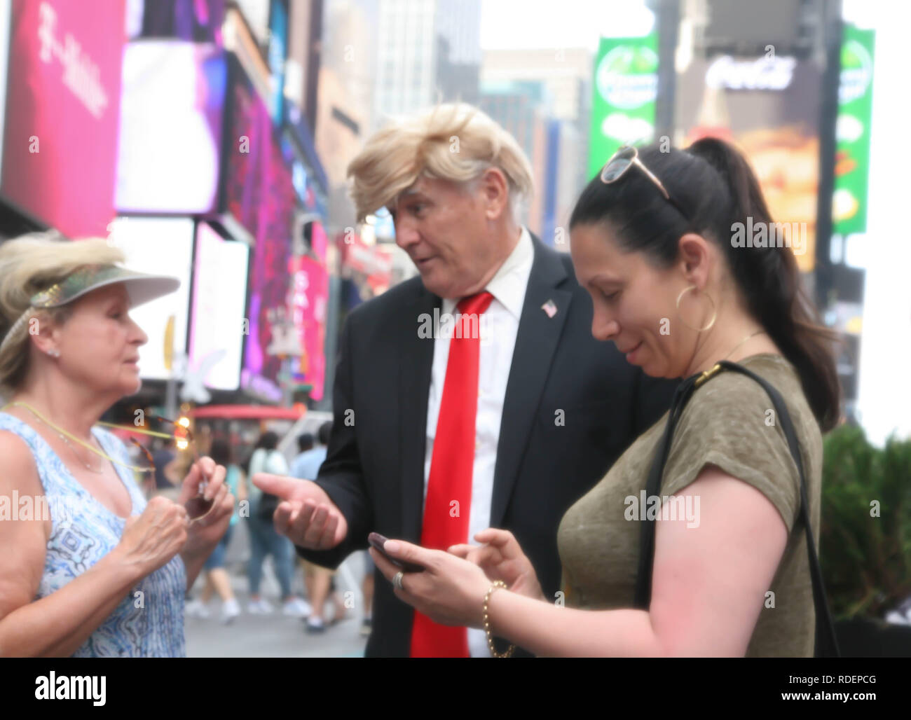USA, New York, Manhattan, President Trump Look alike, at a special event day. - Stock Image