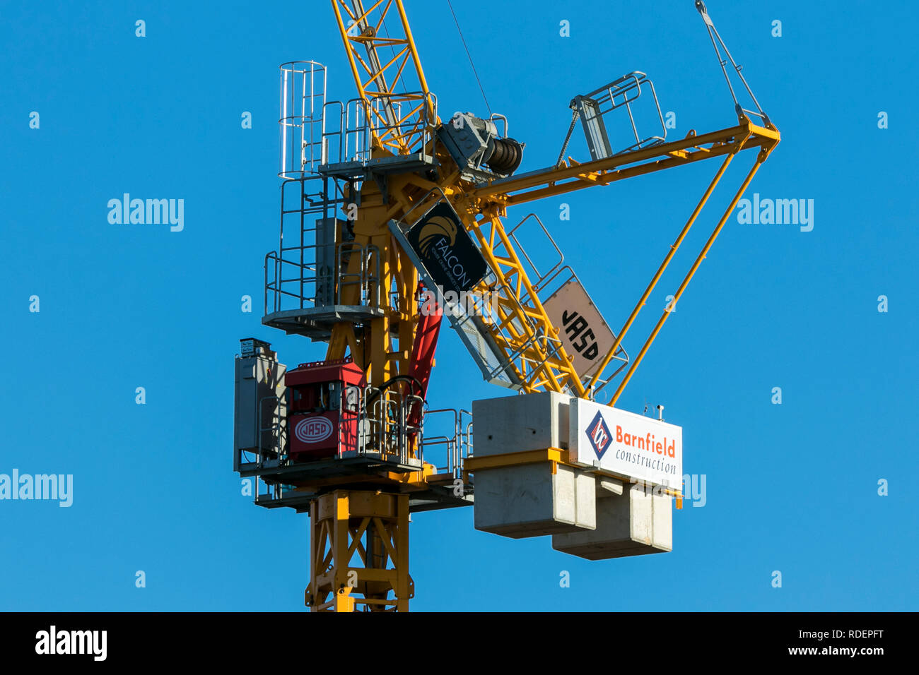 A frame tower crane, seen on almost every major construction