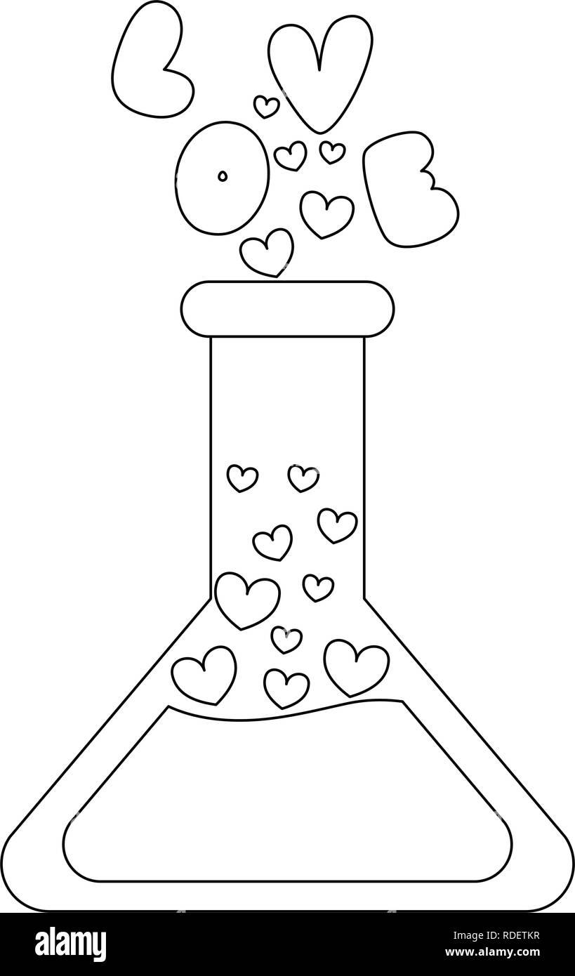 Love in flask - Stock Image