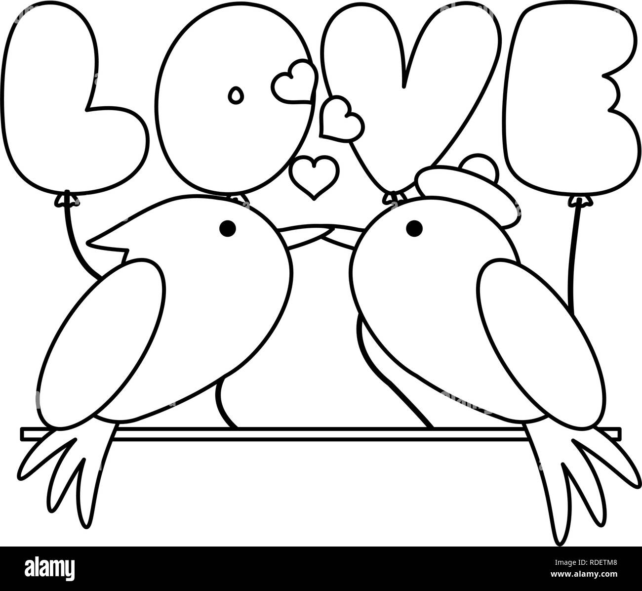 Love Birds Black And White Stock Photos Images Alamy