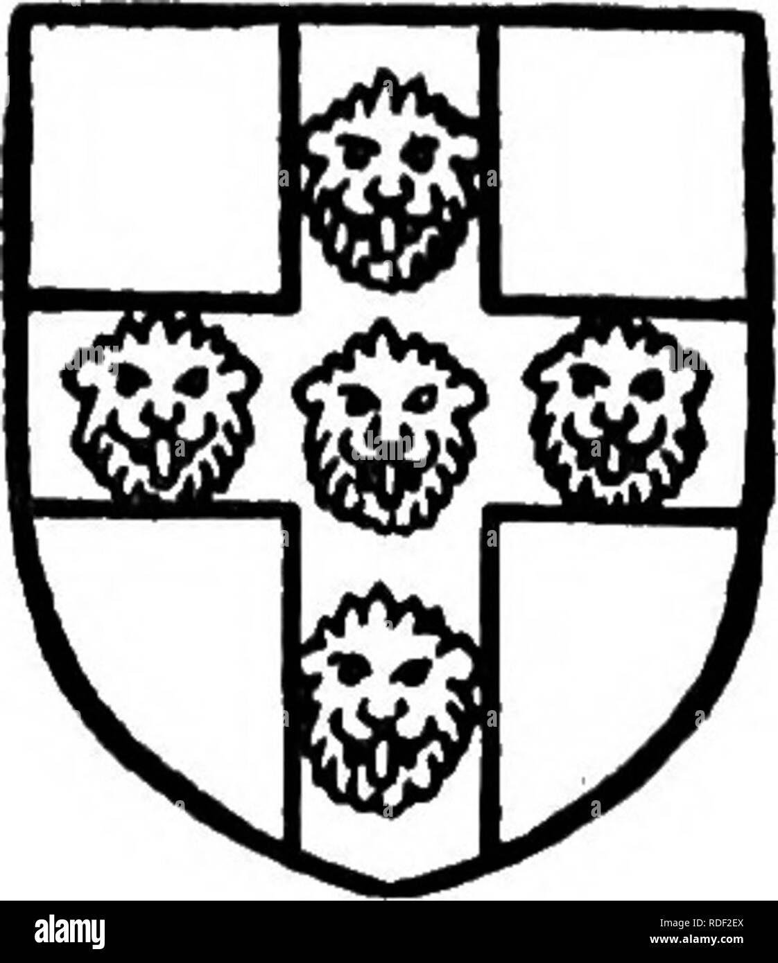""". The Victoria history of the county of Hertford. Natural history. Bishopric of London. Gules two sivords of St. Paul crossed saltircwise. now blocked, has a flat four-centred arch, and there is a similar arch in the partition inside. Two other doorways have flat Tudor arches of oak, similar to the one at the hall. In the reign of Edward the Confessor MANORS the manor of ALBURT was held of Archbishop Stigand by Siward."""" After the Conquest it was acquired by the Bishop of London ^^ and became part of the barony of Stortford be- longing to the Bishops of London, of whom it was held by knigh - Stock Image"""