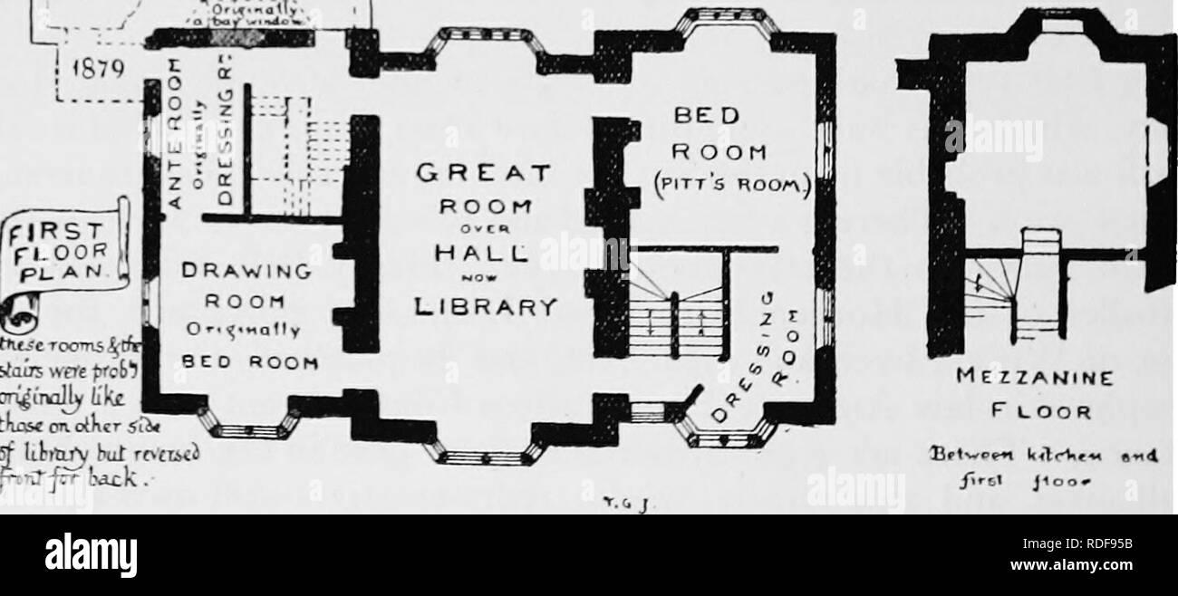 Plan Dressing En U first floor plan black and white stock photos & images - alamy