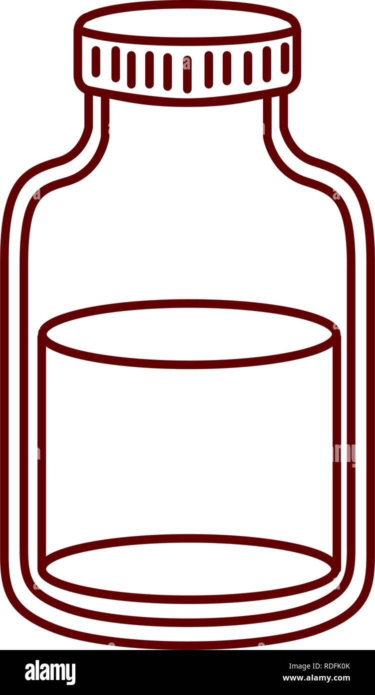 transparent jar isolated icon - Stock Image
