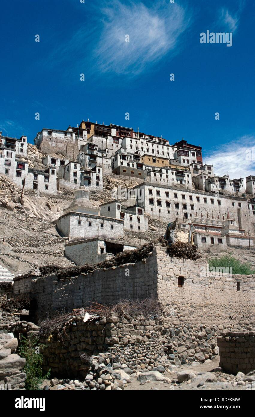 Tikse Monastery, Ladakh, Jammu and Kashmir, India, Asia Stock Photo