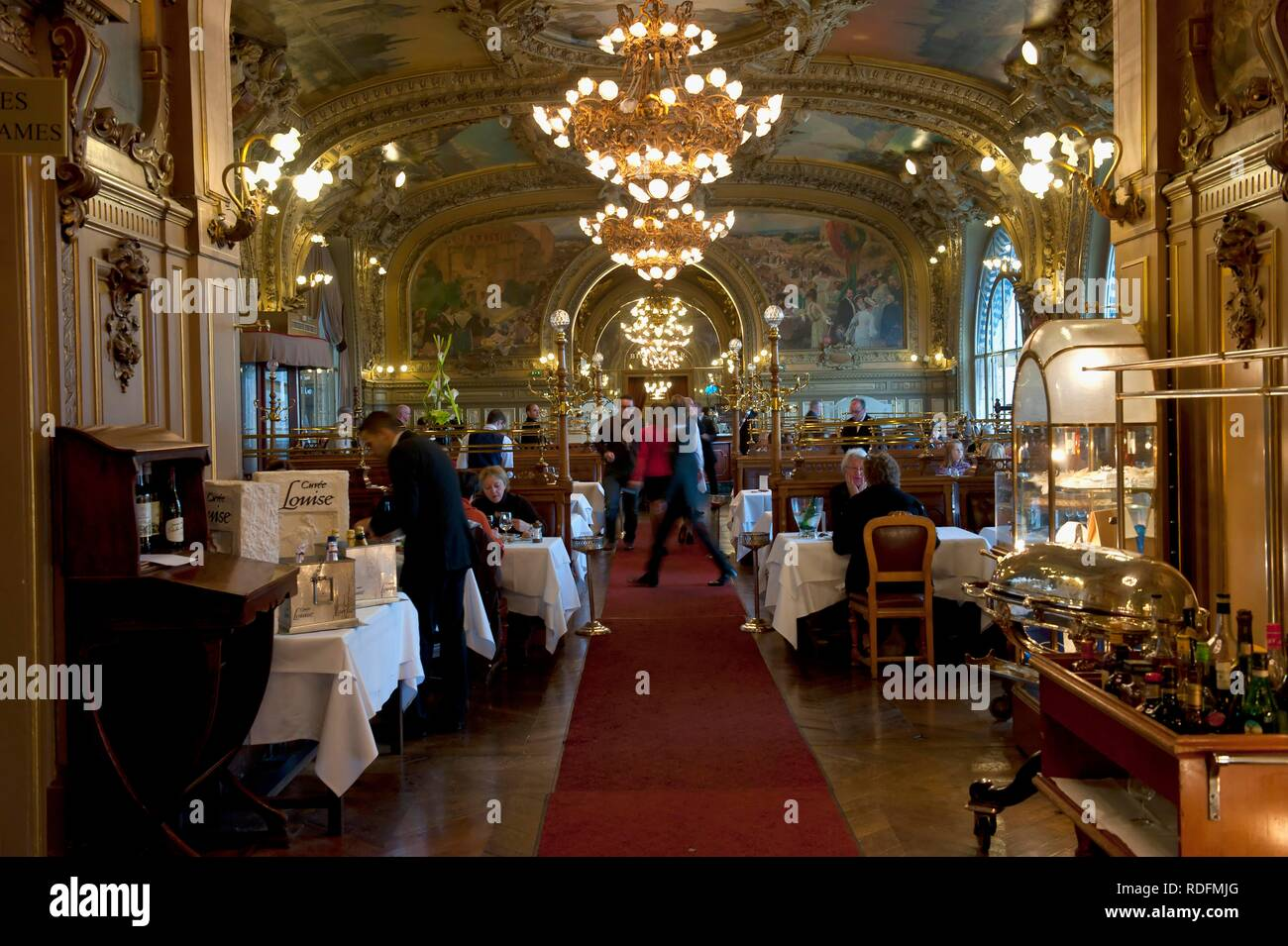 Le Train Bleu restaurant, interior, Lyon railway station, Paris, France, Europe - Stock Image