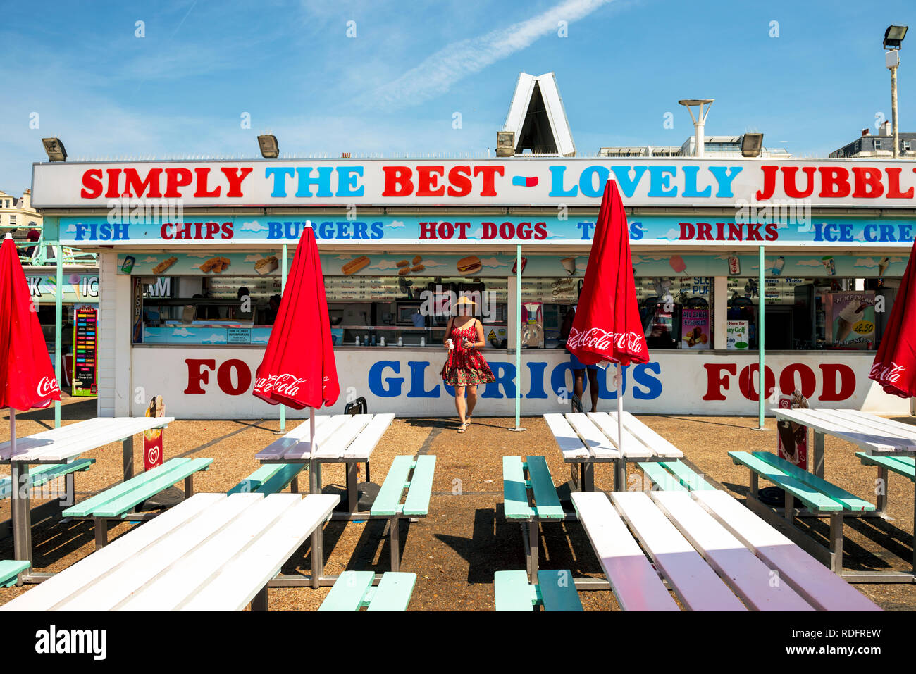 Simply The Best Fish & Chips and Burger Bar in Brighton, UK. - Stock Image