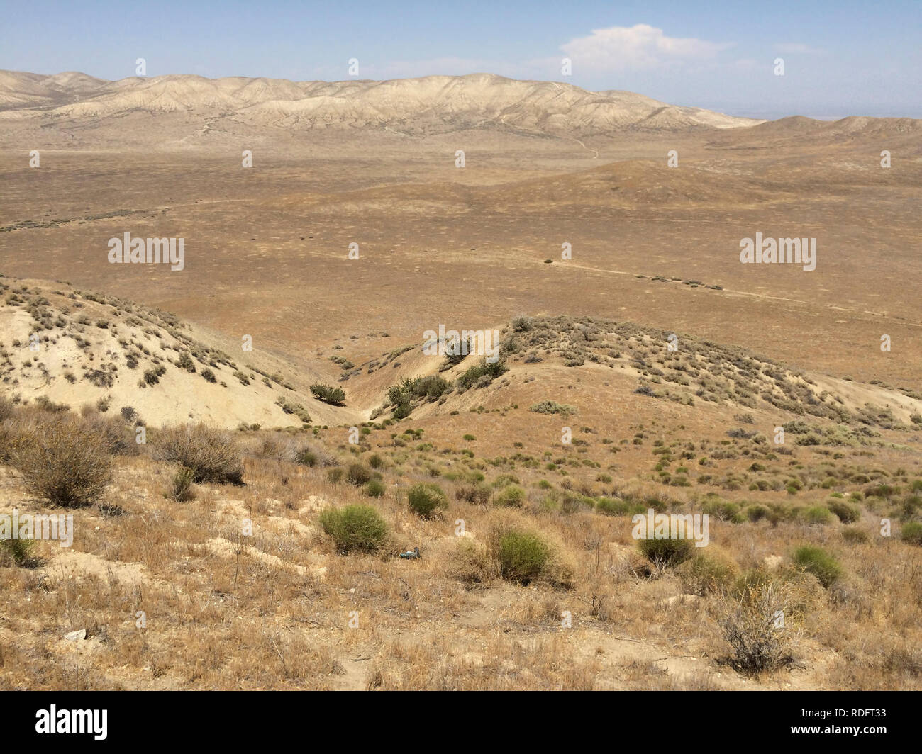Landscape of Carrizo Plain National Monument - California USA - Stock Image