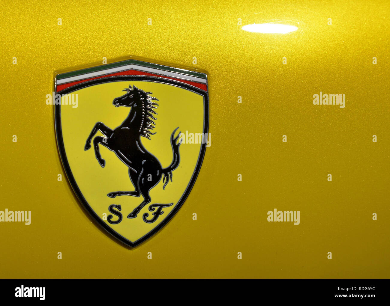Logo Sports Car Manufacturer Ferrari Stock Photos Logo