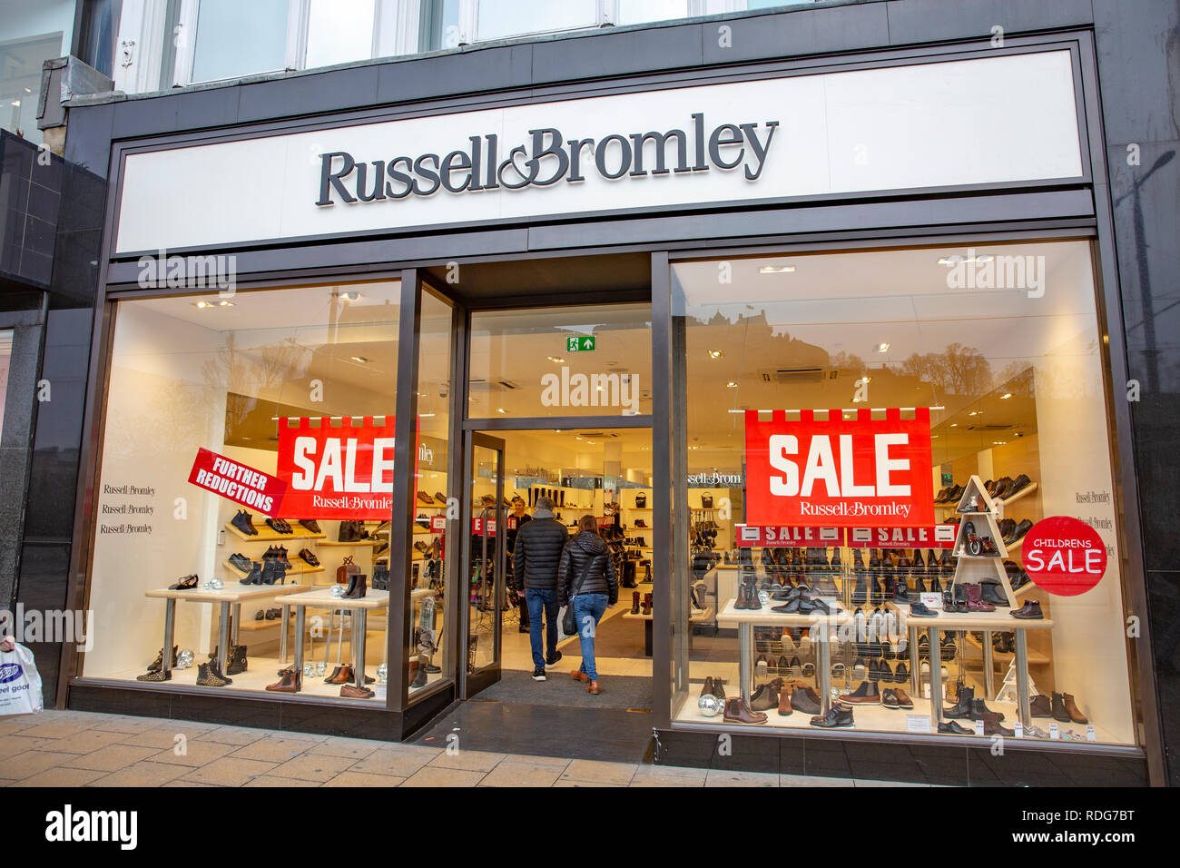 Russell and Bromley shoe store shop