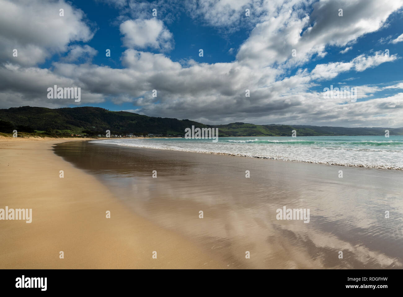 Apollo Bay Beach at the famous Great Ocean Road. - Stock Image