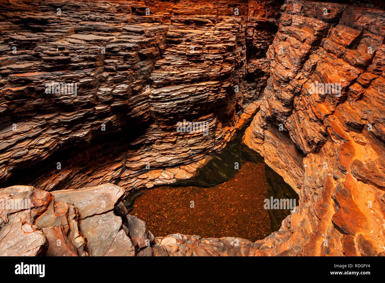 Amazing view into Weano Gorge. - Stock Image