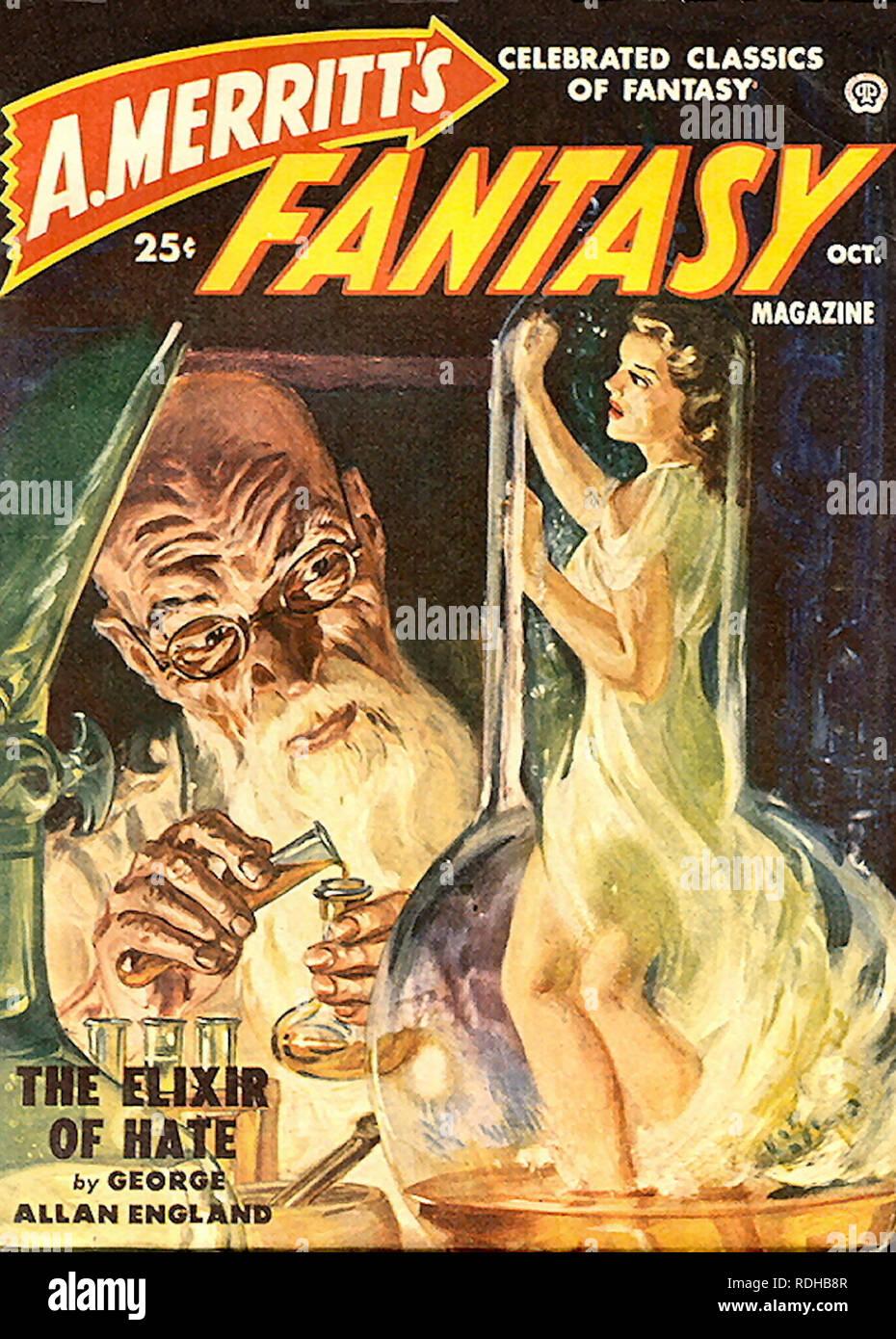 Fantasy Magazine October 1950. - Stock Image