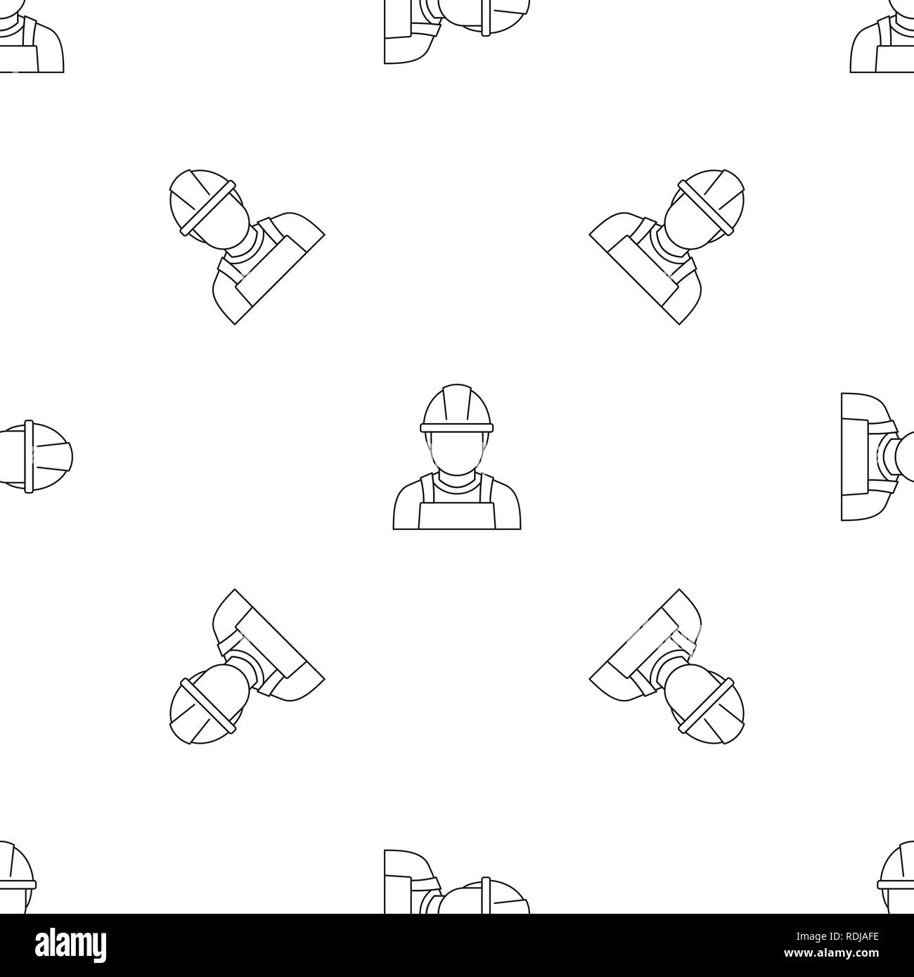 welding man icon  outline illustration of welding man vector icon for web  design isolated on white background