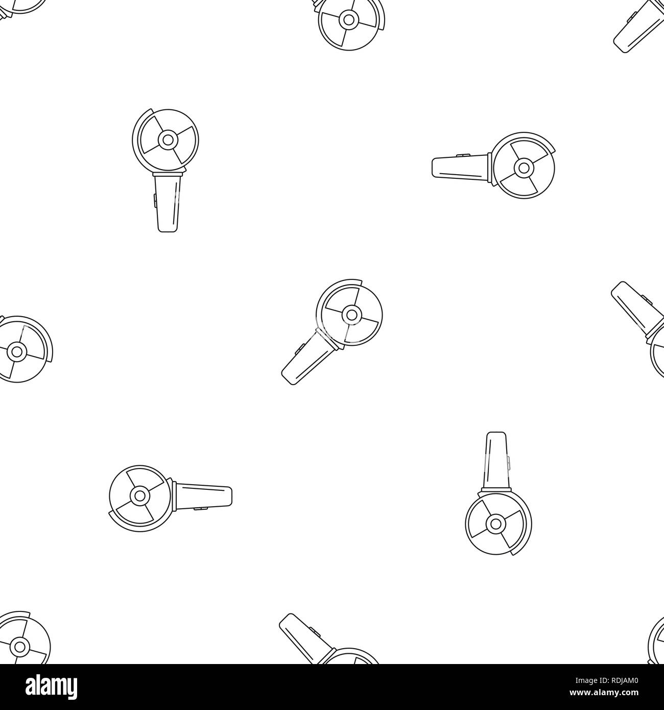 Angle grinder icon. Outline illustration of angle grinder vector icon for web design isolated on white background - Stock Image