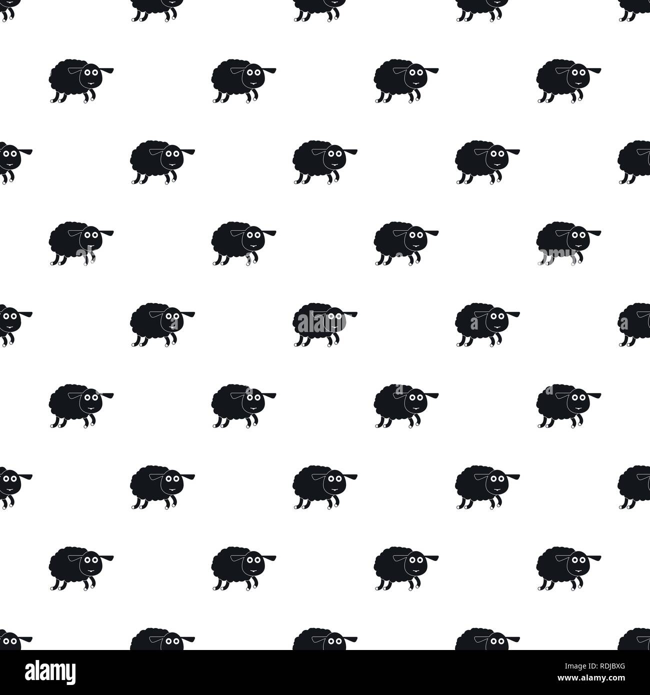 Sheep pattern seamless vector repeat geometric for any web design - Stock Vector