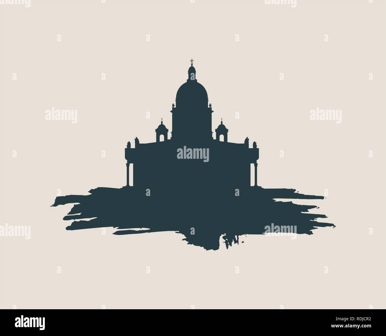 Saint Isaac Cathedral in Saint Petersburg Russia. - Stock Vector