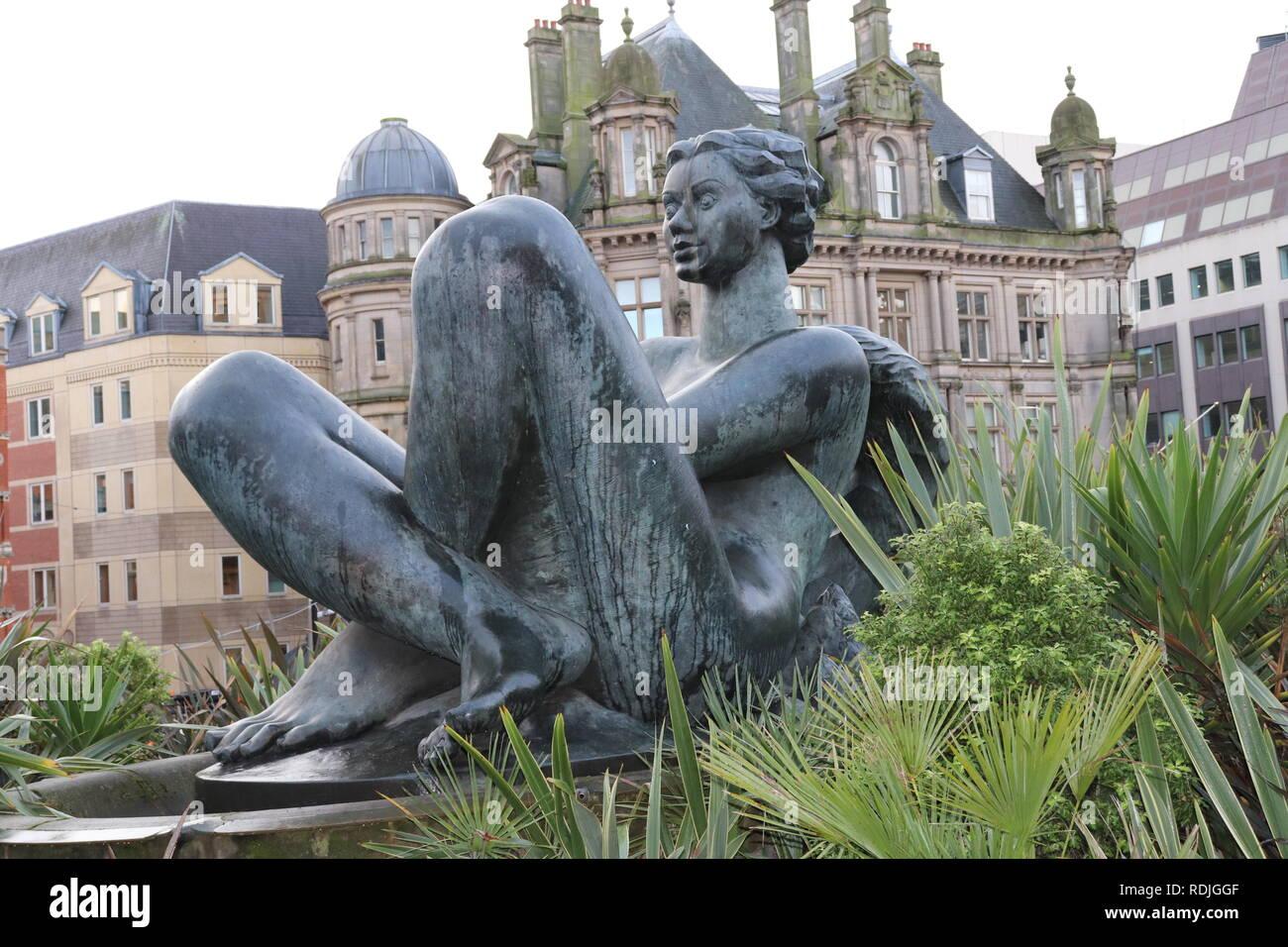 Floozy in the Jacuzzi Birmingham City Statue - Stock Image