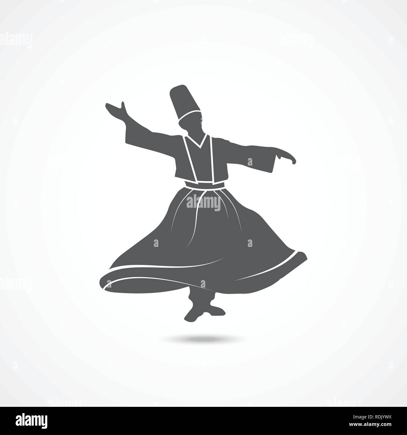 Dervish Dance Icon - Stock Vector