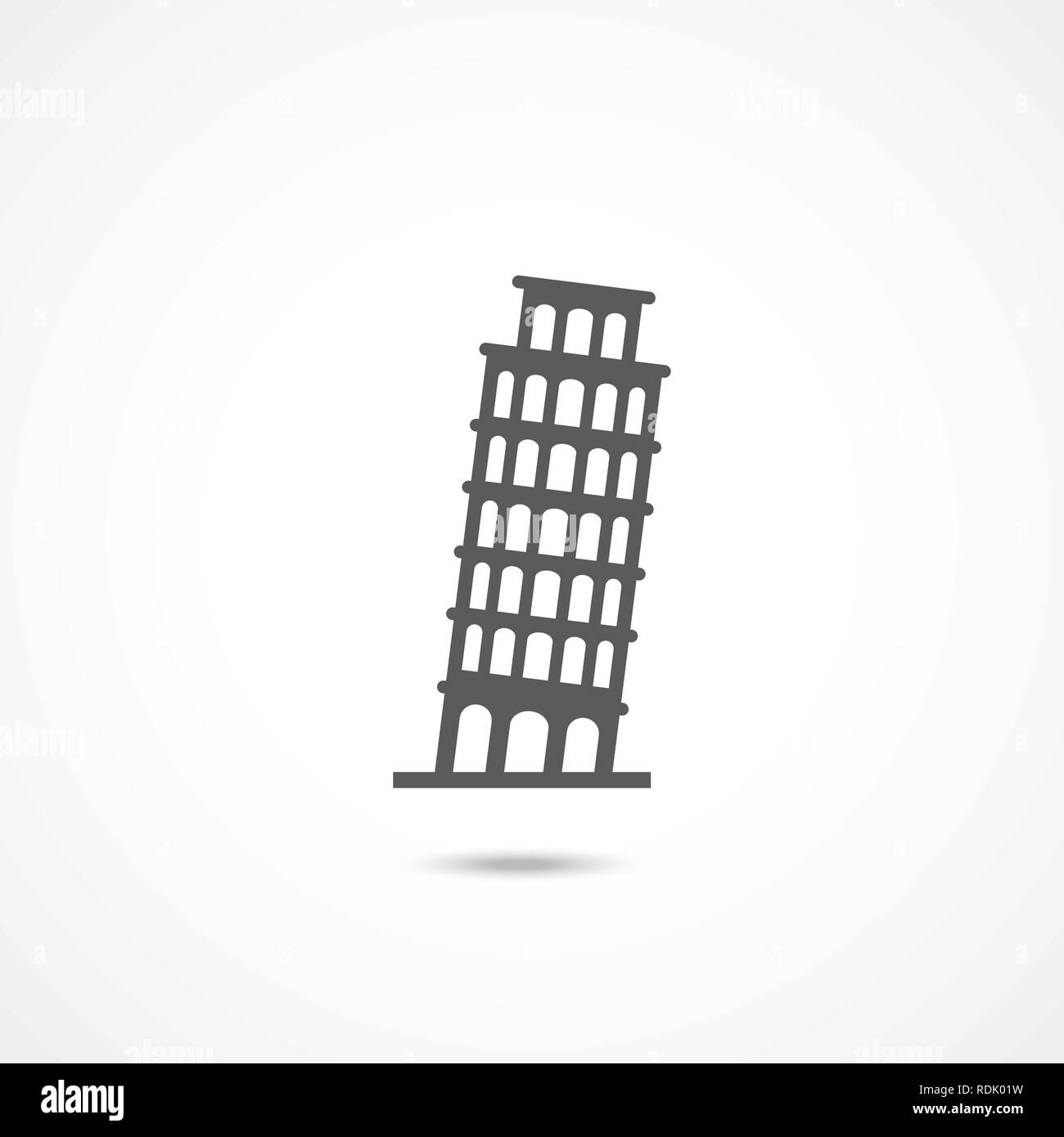 Pisa Tower icon - Stock Vector