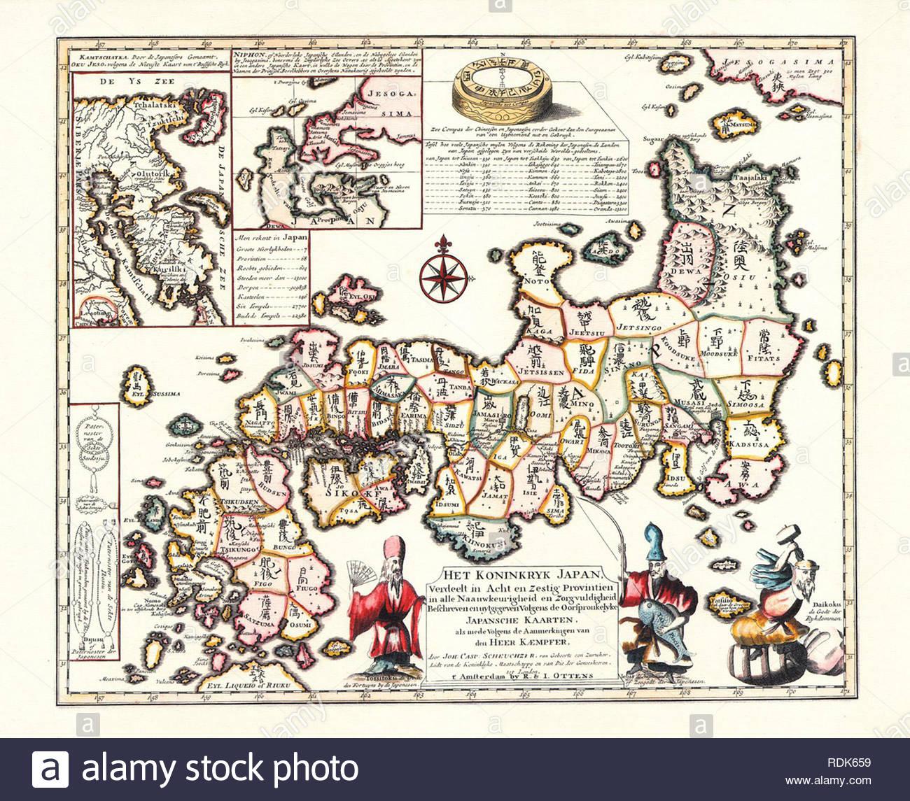 Ancient Map Of Japan.Ancient Map Japan Stock Photos Ancient Map Japan Stock Images Alamy
