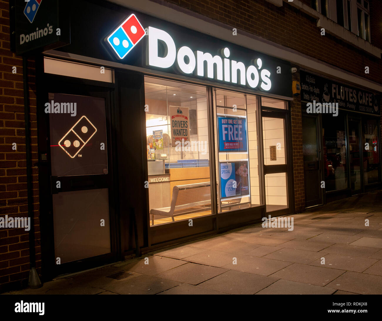Domino's Pizza shop, High Street, Cosham, Portsmouth, Hampshire, England, UK. Stock Photo