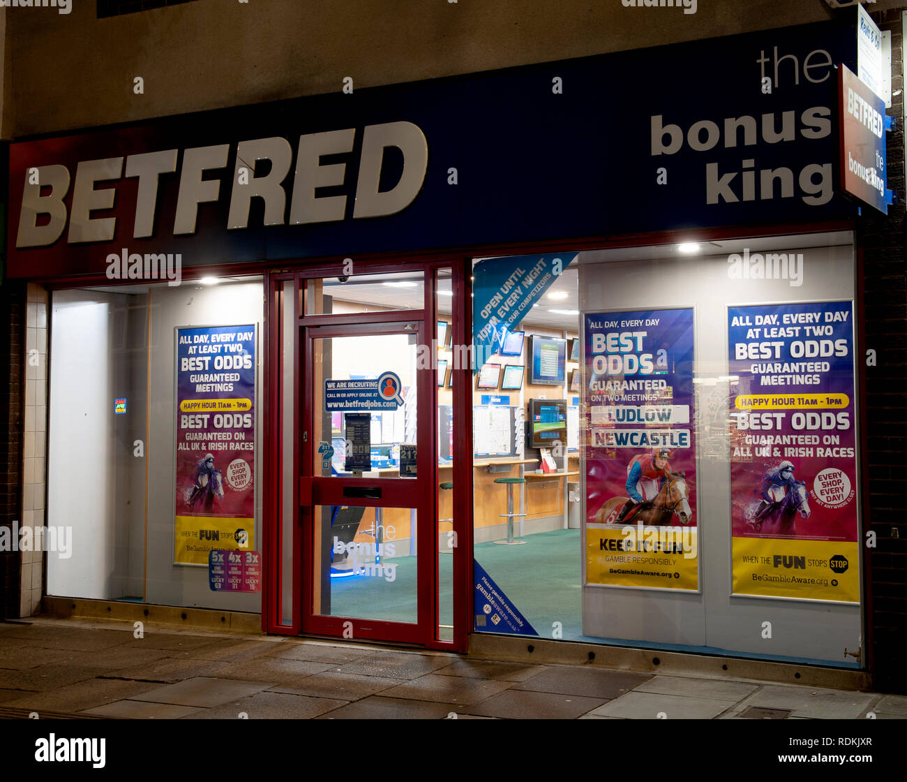 Betfred betting Shop, High Street, Cosham, Portsmouth, Hampshire, England, UK. Stock Photo