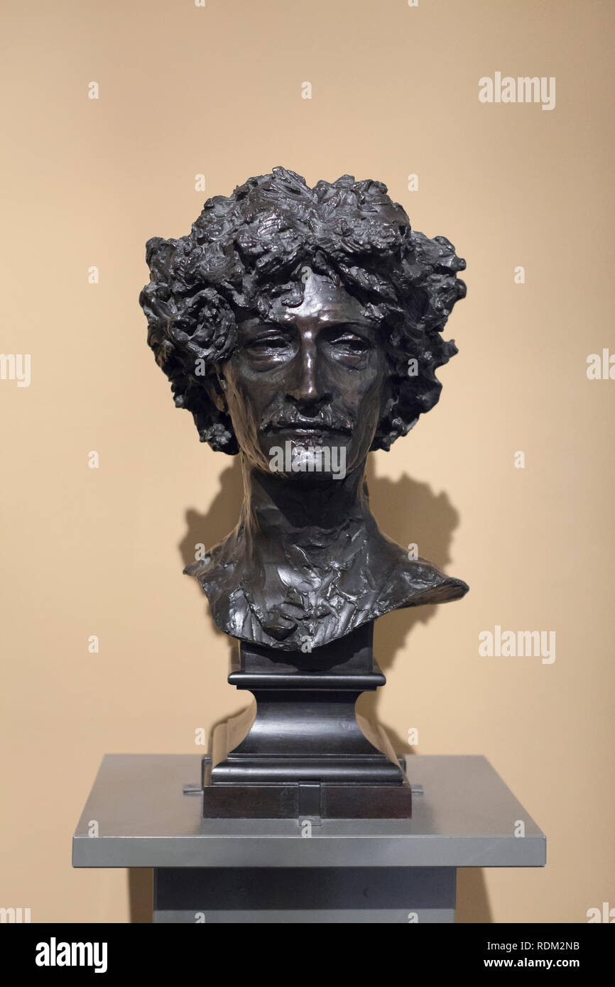 Portrait of Ignacy Jan Paderewski, Alfred Gilbert - Stock Image
