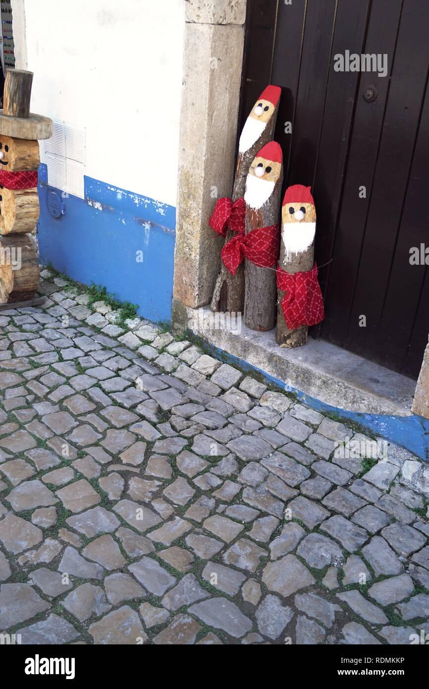 Christmas Elves, Obidas, Portugal Stock Photo