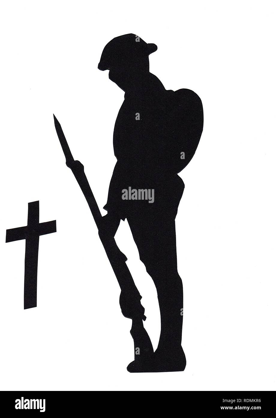 WW1 Soldier in Silhouette, British, Commonwealth or American - Stock Image