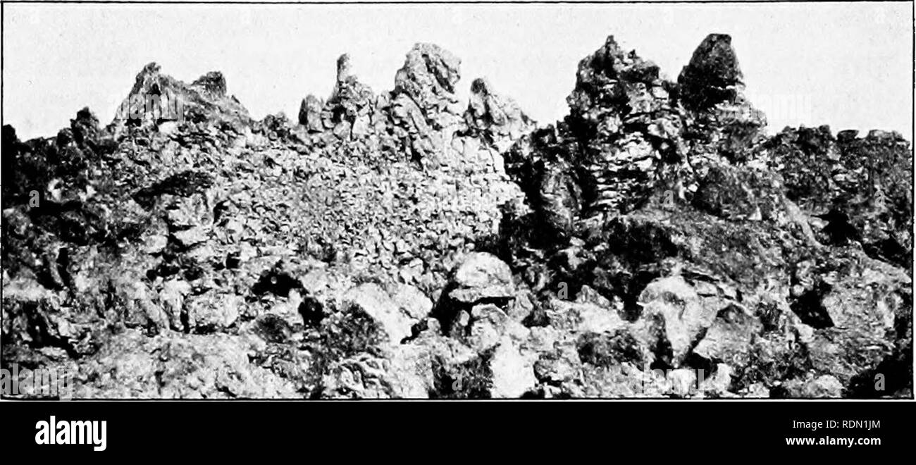. Conservation reader. Natural resources; Forests and forestry. 52 Conservation Reader. H. W. Fairbanks These jagged rocks are formed of once molten lava. By and by they will crumble and be covered with a layer of soil. Much of New England is hilly and has a poor, rocky soil. The farmers who first settled there toiled hard, working early and late, and yet got few of the comforts of life. Most of the farmers did not know how to improve the soil or even to keep it in as good condition as it was when they first cleared away the forests and began cultivating it; so many left their farms to seek a  - Stock Image